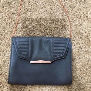 Danielle Nicole beautiful blue/grey shoulder purse